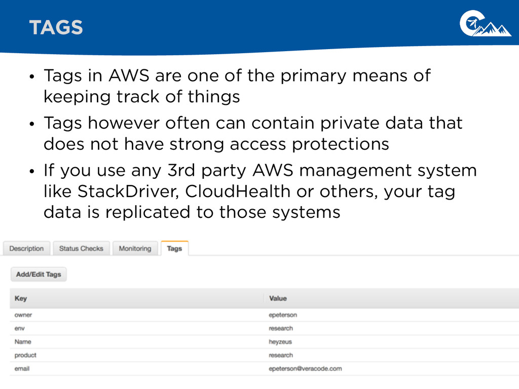• Tags in AWS are one of the primary means of k...