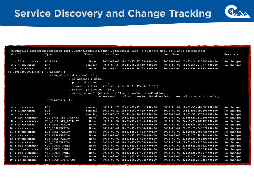 Service Discovery and Change Tracking (cloudatl...