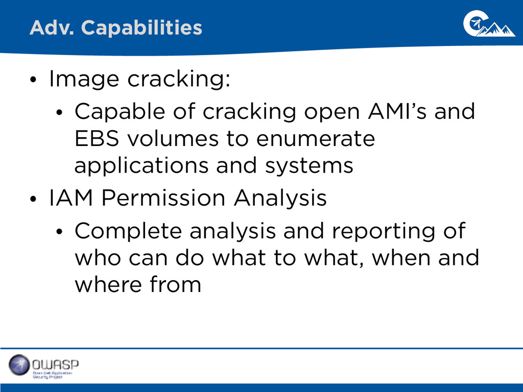 • Image cracking: • Capable of cracking open AM...