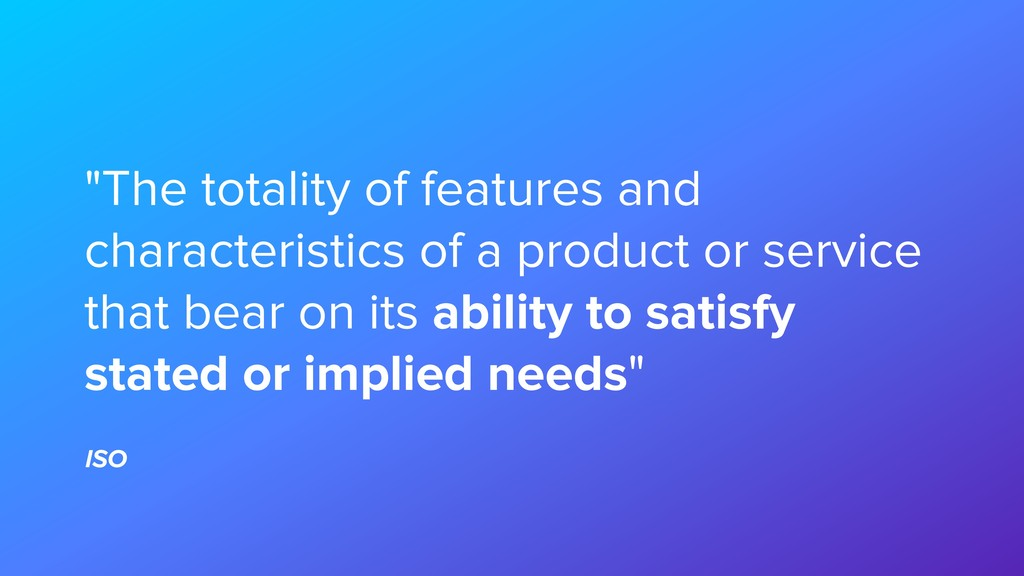 """""""The totality of features and characteristics o..."""