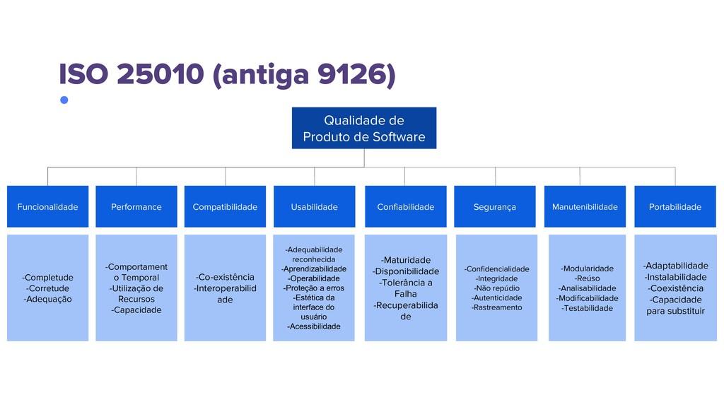 Qualidade de Produto de Software Funcionalidade...