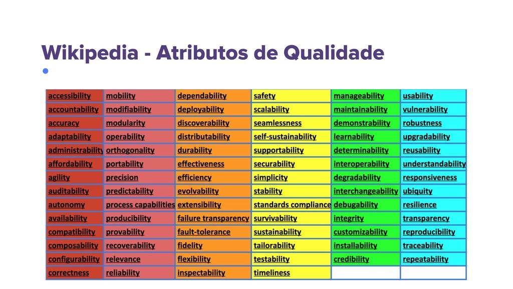 Wikipedia - Atributos de Qualidade