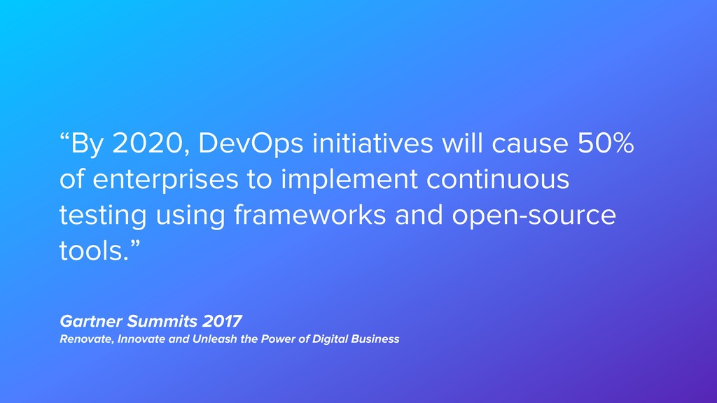 Gartner Summits 2017 Renovate, Innovate and Unl...