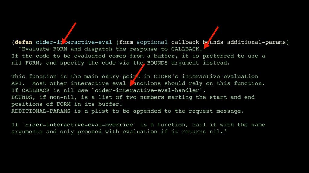 (defun cider-interactive-eval (form &optional c...