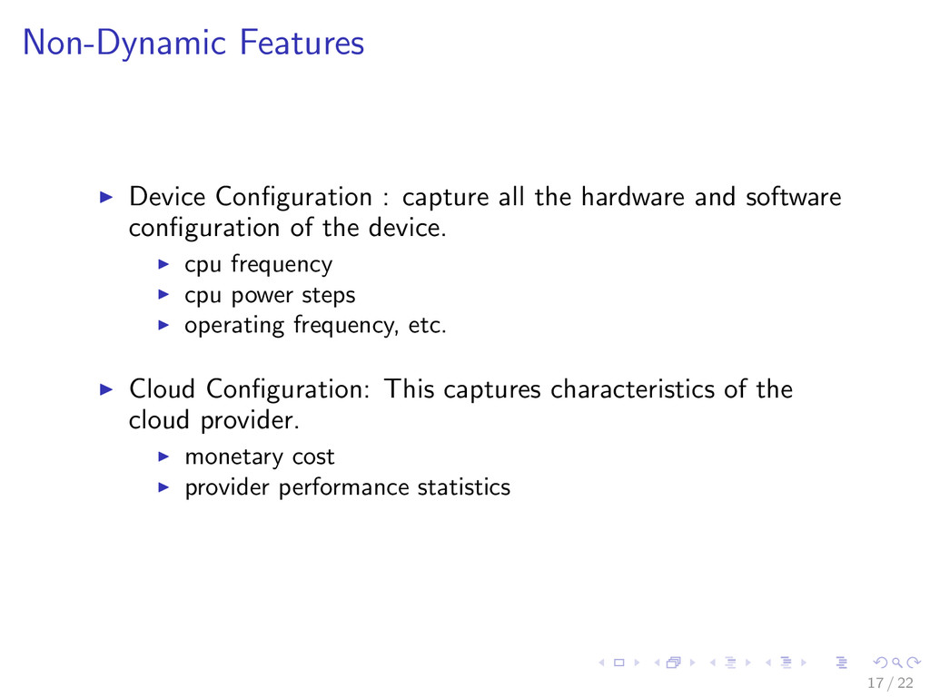 Non-Dynamic Features Device Configuration : capt...