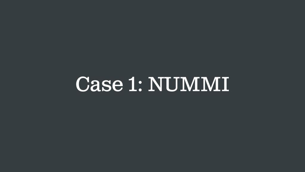 Case 1: NUMMI