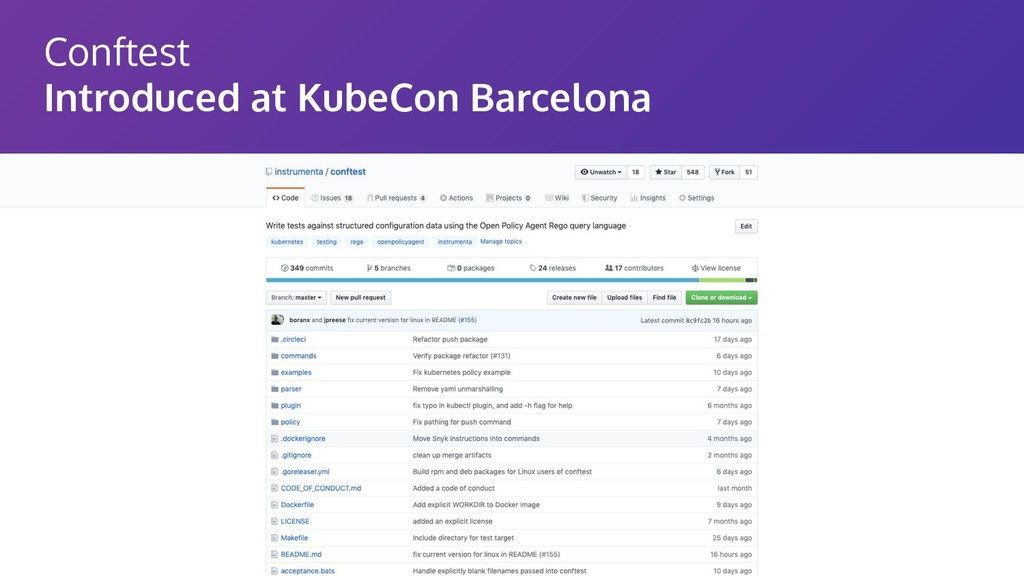 Conftest Introduced at KubeCon Barcelona
