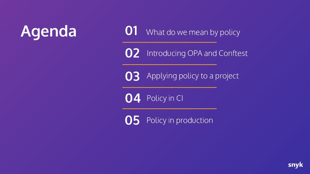 Agenda What do we mean by policy 01 Introducing...