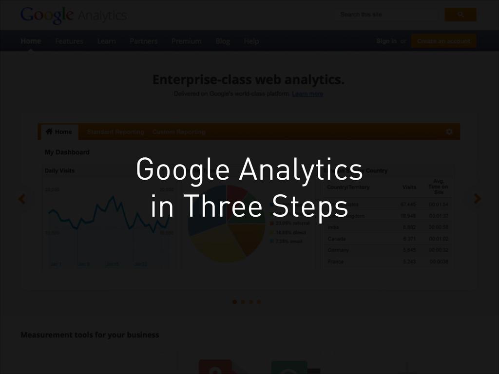 Google Analytics in Three Steps