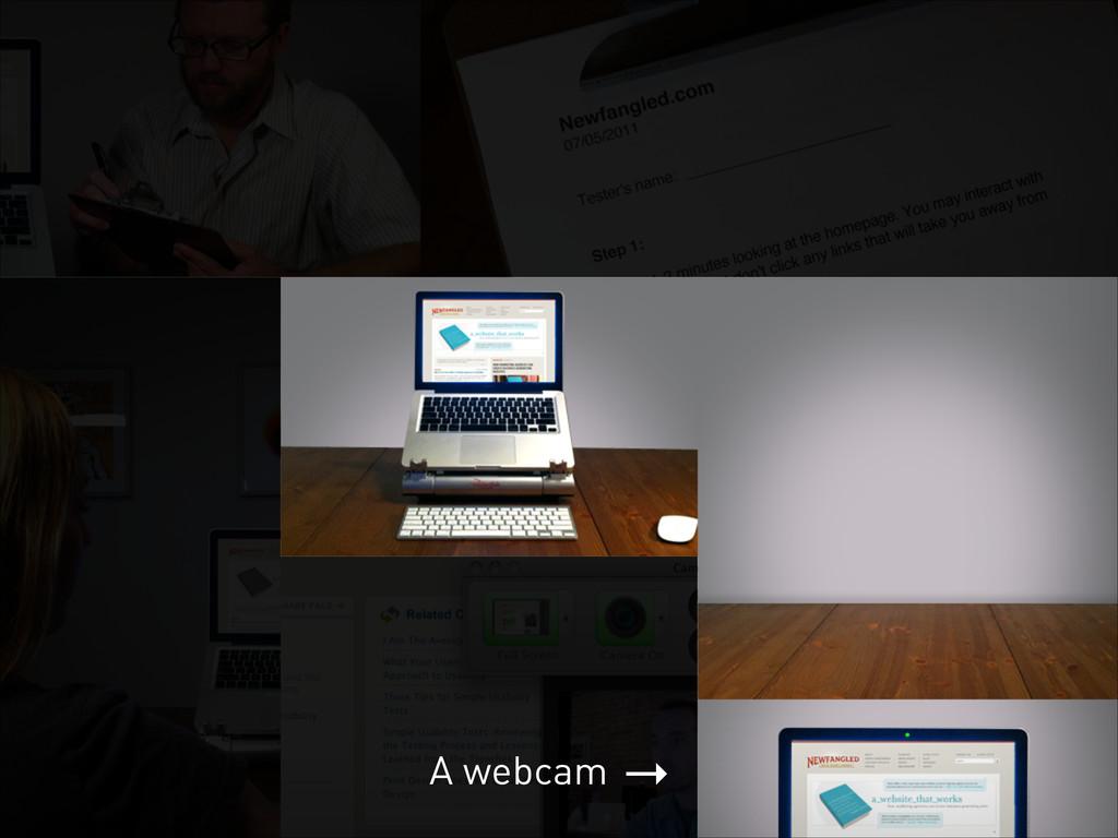 → A webcam