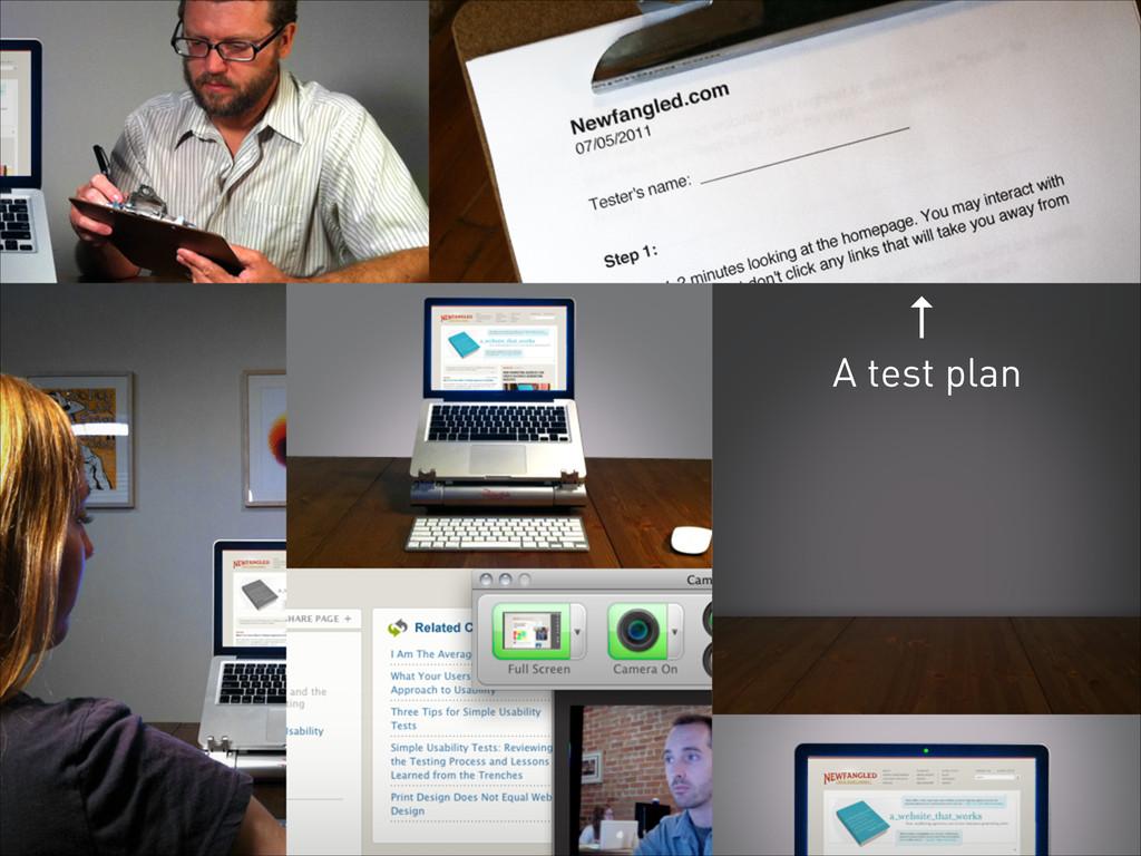 A test plan ↑