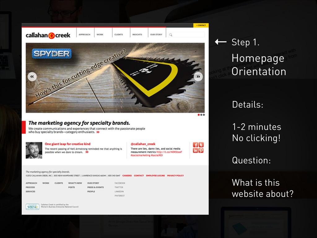 ← Homepage Orientation Step 1. Details: ! 1-2 m...