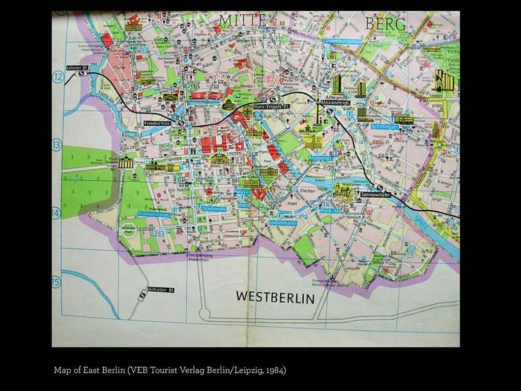 Map of East Berlin (VEB Tourist Verlag Berlin/L...