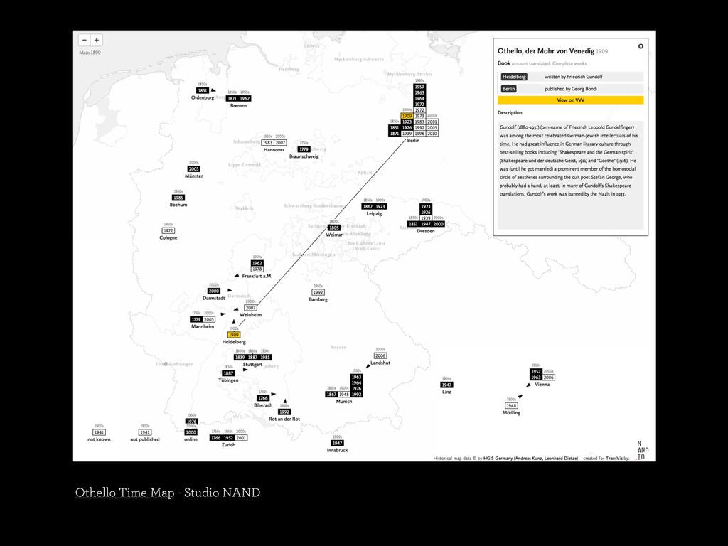 Othello Time Map - Studio NAND