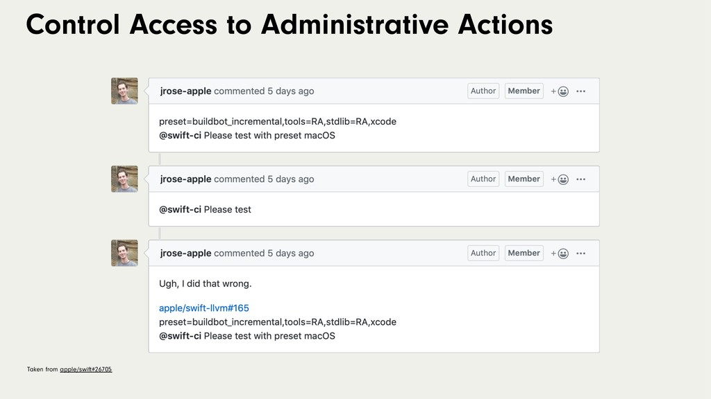 Control Access to Administrative Actions Taken ...