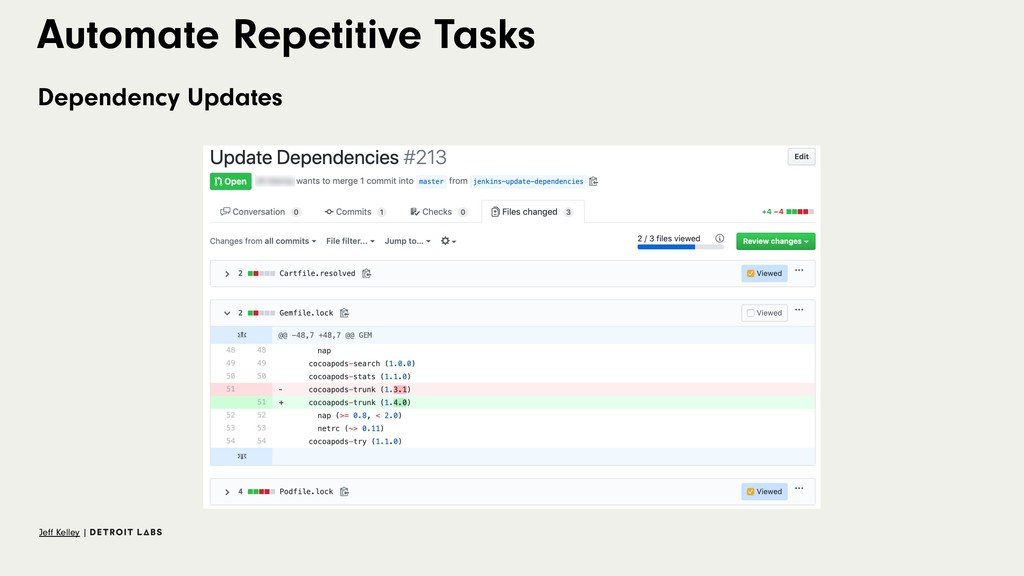 Automate Repetitive Tasks Dependency Updates Je...