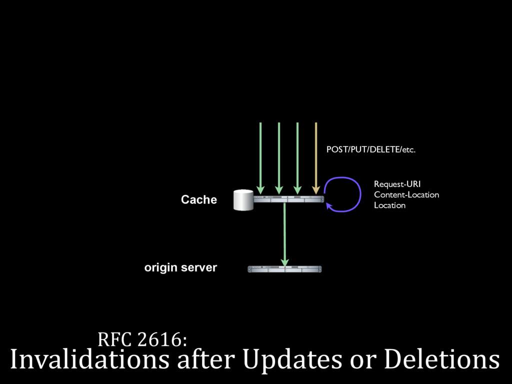 RFC 2616: the internets Cache origin server PO...