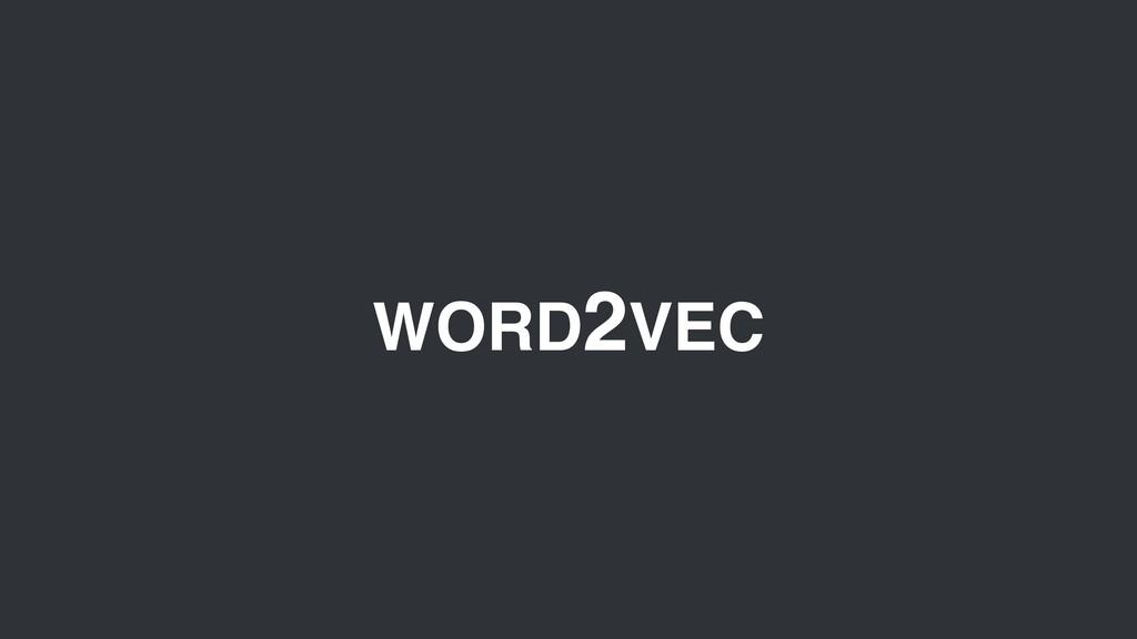 WORD2VEC