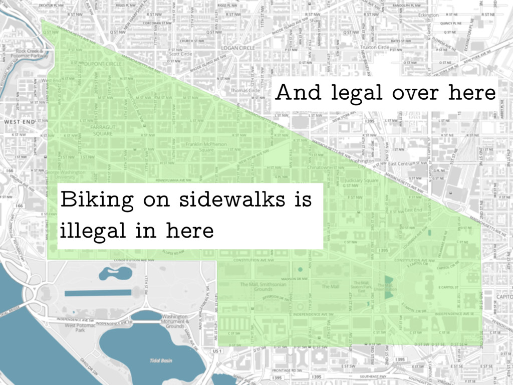 Biking on sidewalks is illegal in here And lega...