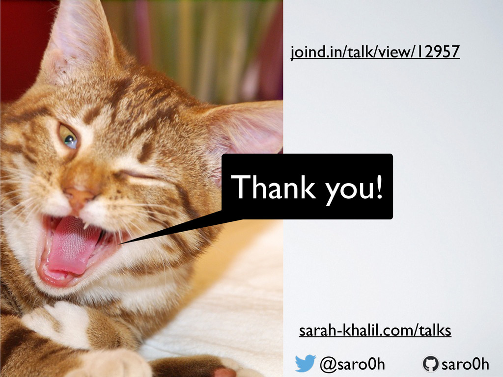 Thank you! @saro0h joind.in/talk/view/12957 sar...