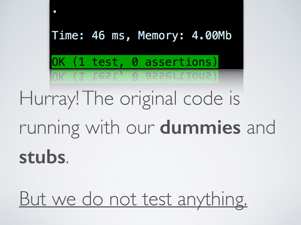 Hurray! The original code is running with our d...