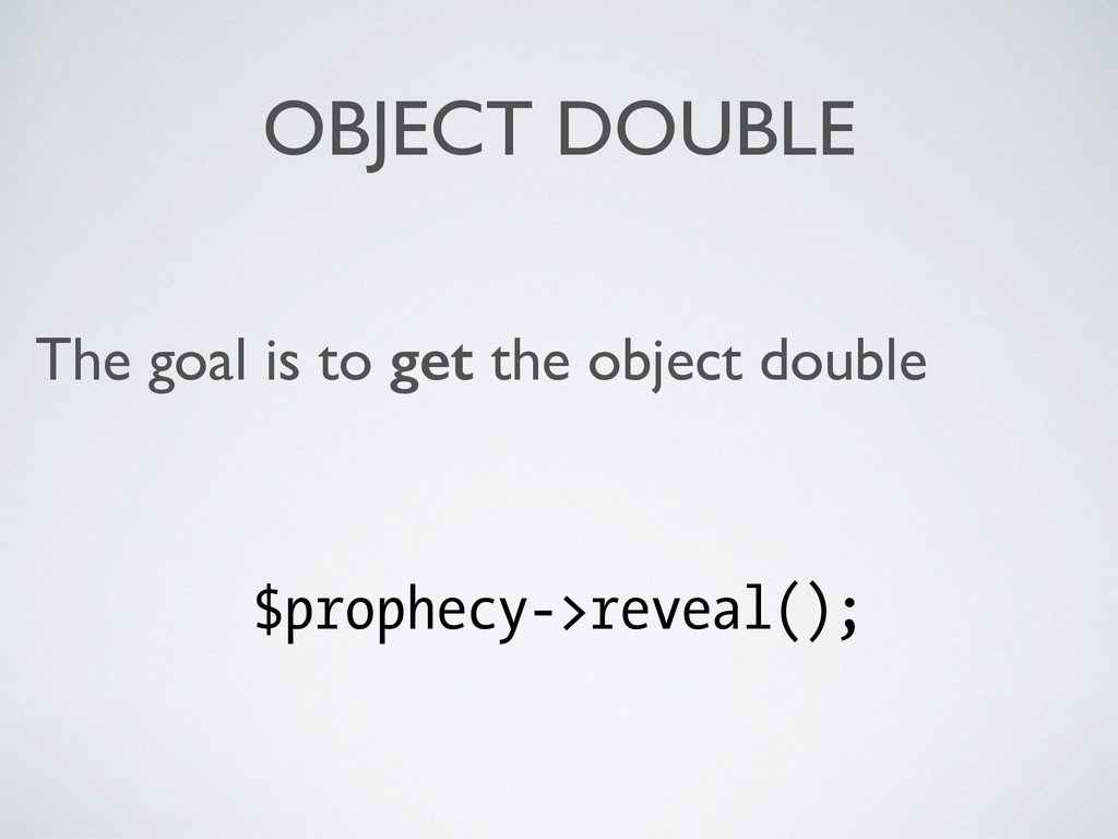 OBJECT DOUBLE The goal is to get the object dou...