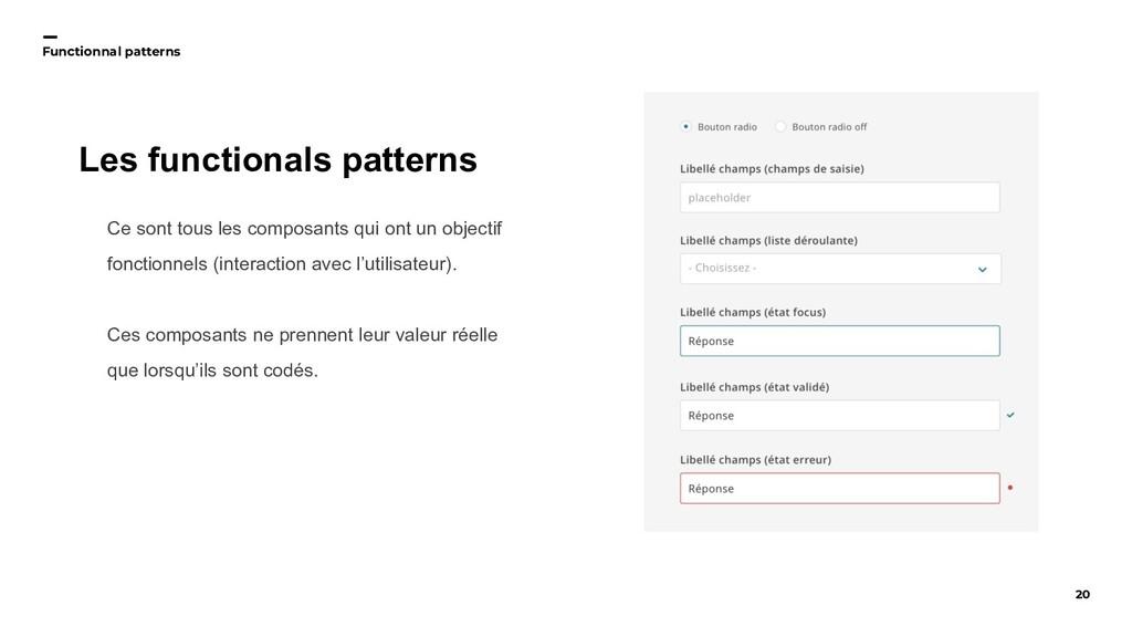 20 Functionnal patterns Ce sont tous les compos...