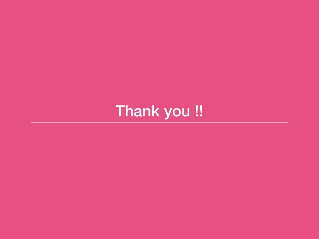 Thank you !!