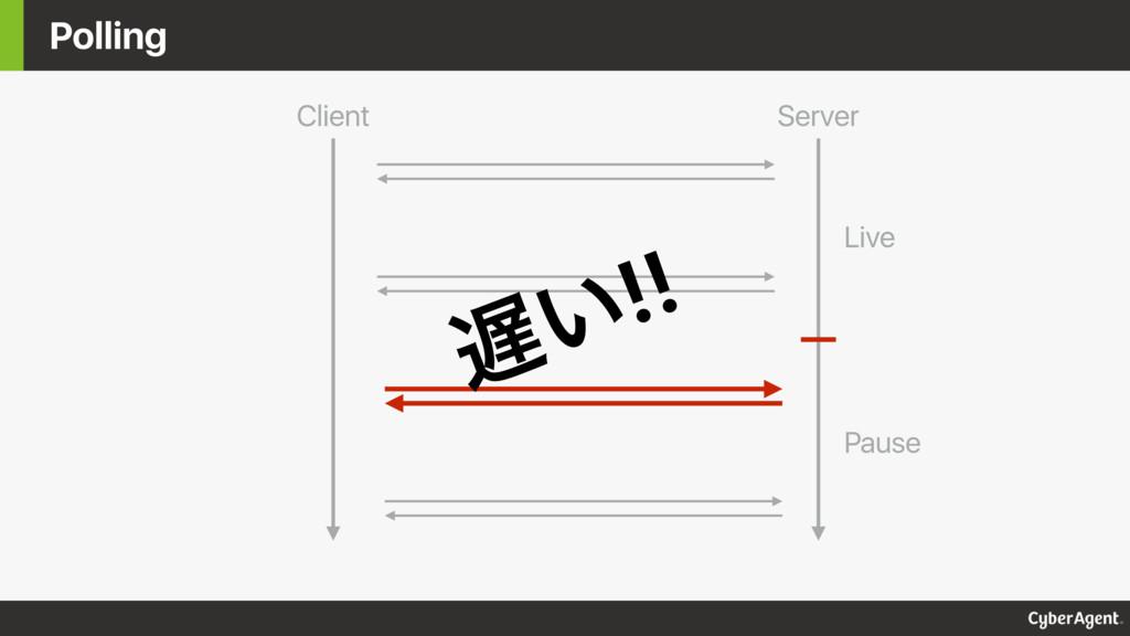 Polling Client Server Live Pause ͍!!