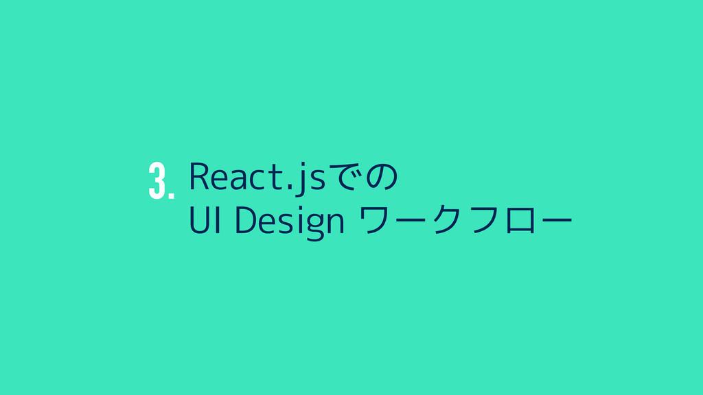 3. React.jsでの UI Design ワークフロー