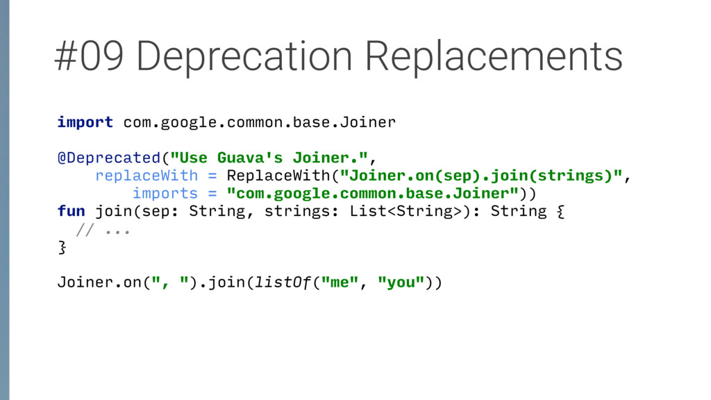 #09 Deprecation Replacements import com.google....