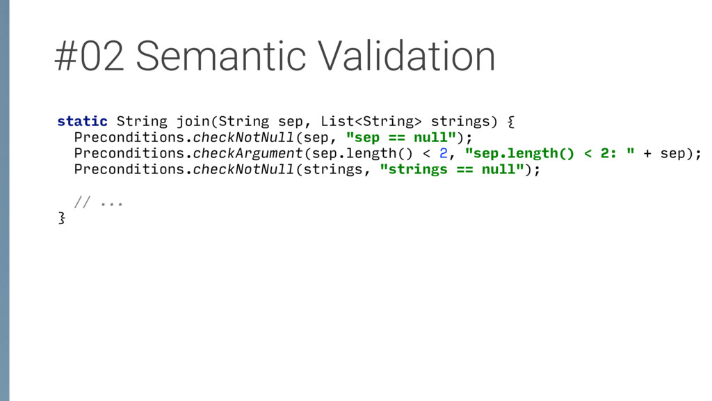 #02 Semantic Validation static String join(Stri...