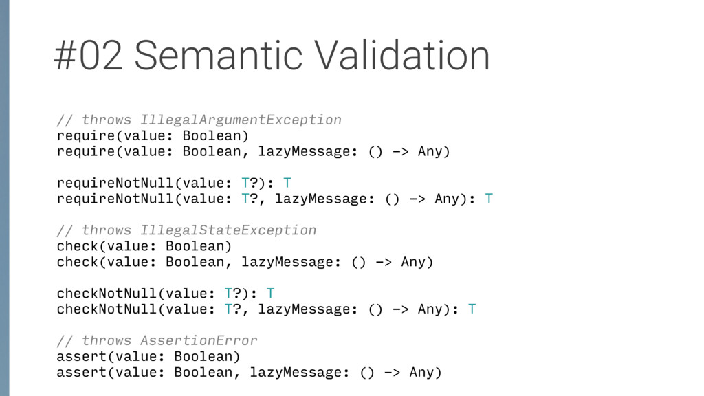 #02 Semantic Validation // throws IllegalArgume...