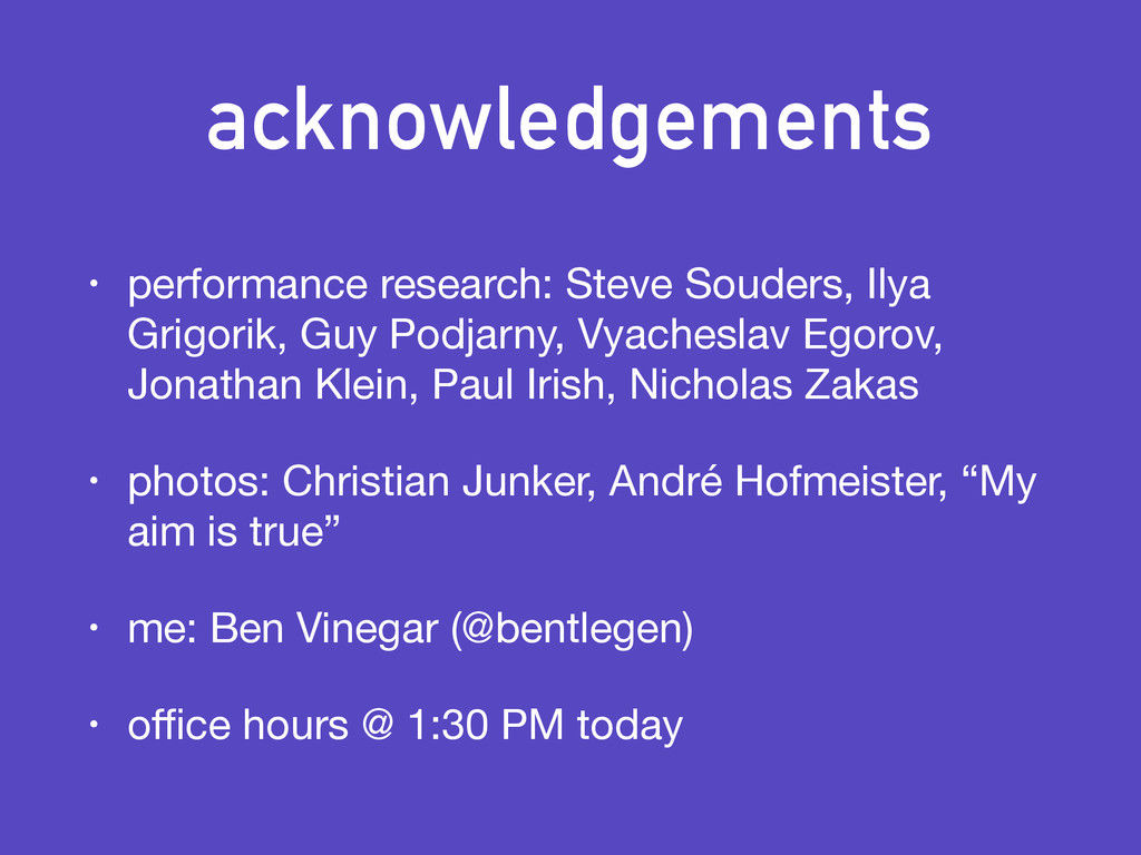 acknowledgements • performance research: Steve ...