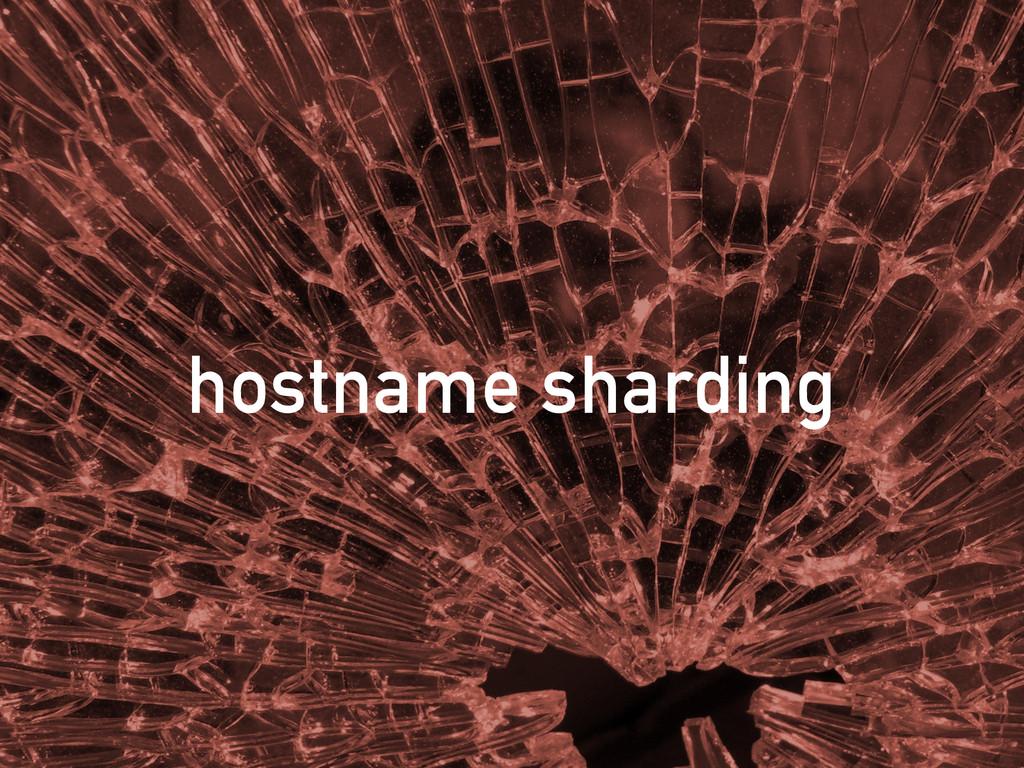 hostname sharding