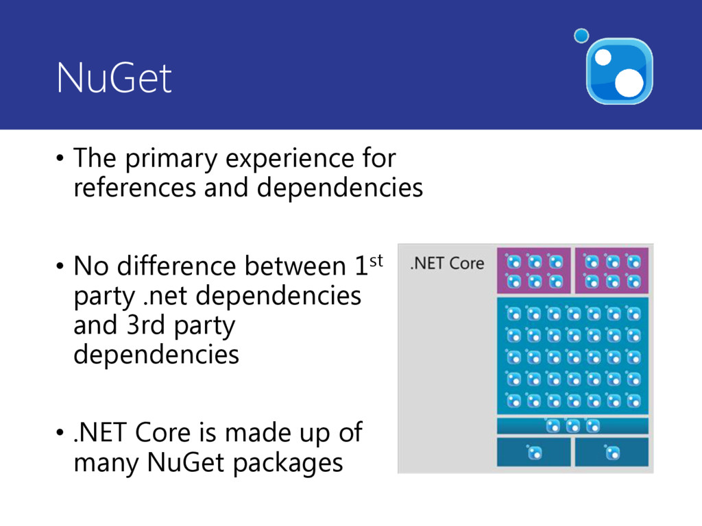 NuGet • The primary experience for references a...