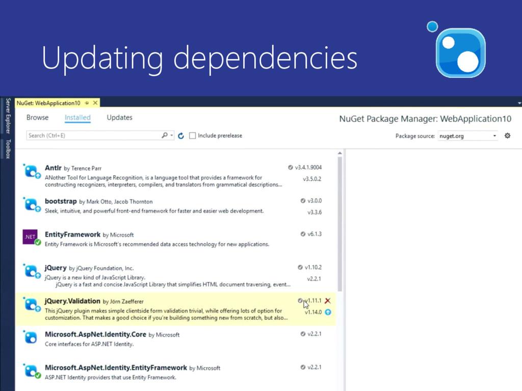 Updating dependencies