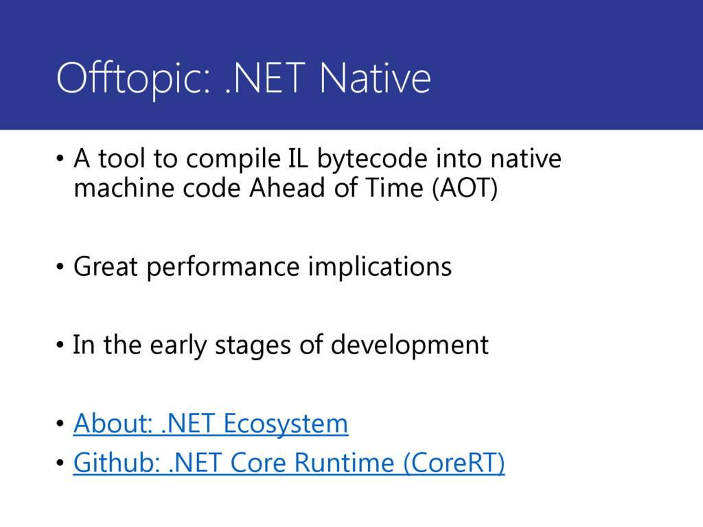 Offtopic: .NET Native • A tool to compile IL by...