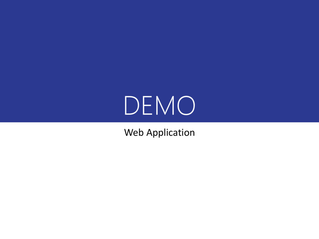 DEMO Web Application
