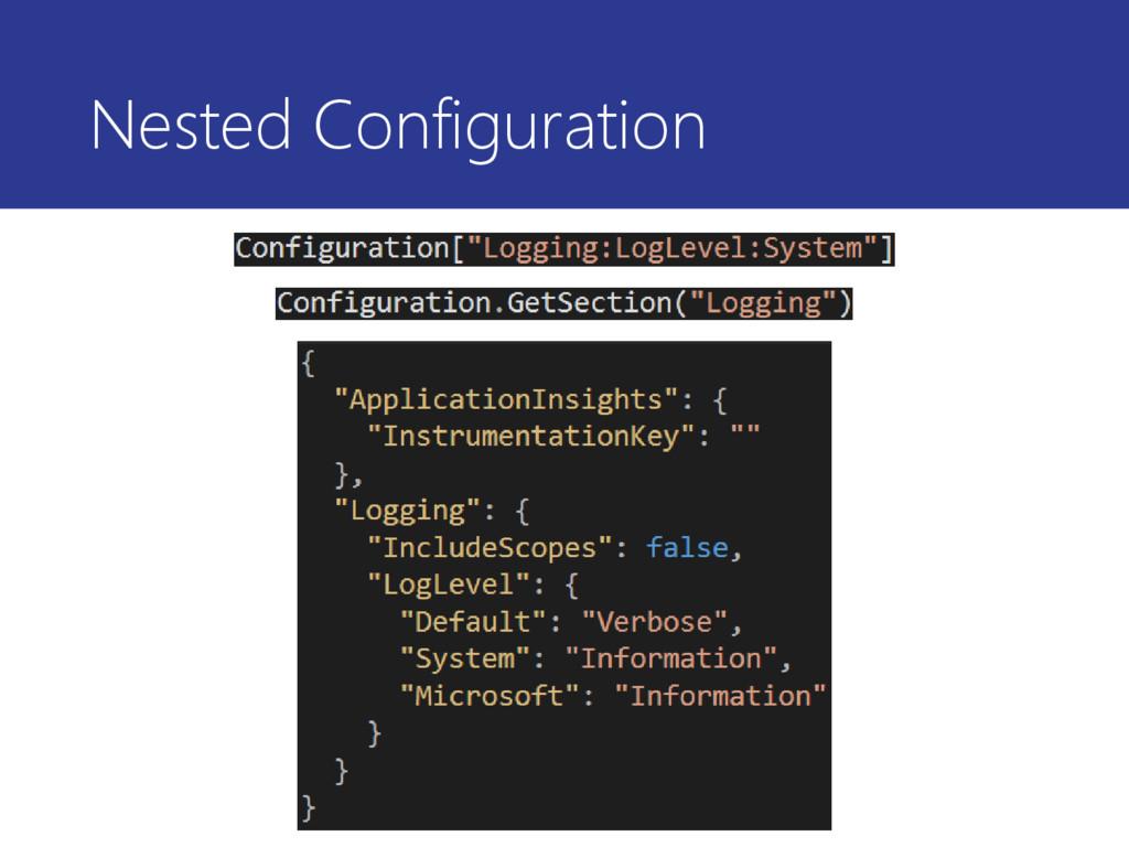 Nested Configuration