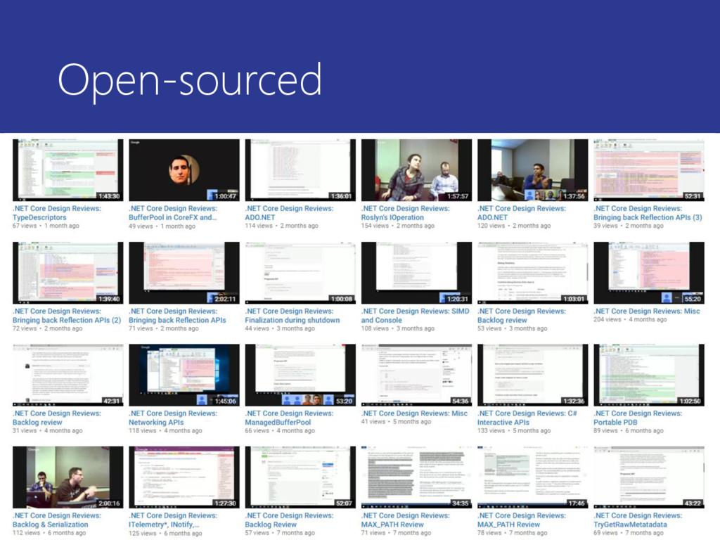 Open-sourced • https://github.com/dotnet/core (...