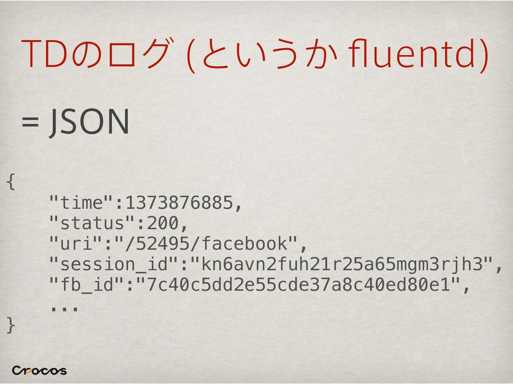 """5%ͷϩά ͱ͍͏͔qVFOUE  +40/ { """"time"""":1373876885,..."""