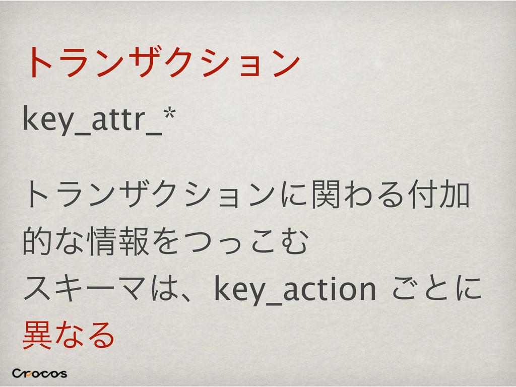 τϥϯβΫγϣϯ key_attr_* τϥϯβΫγϣϯʹؔΘΔՃ తͳใΛͭͬ͜Ή εΩ...