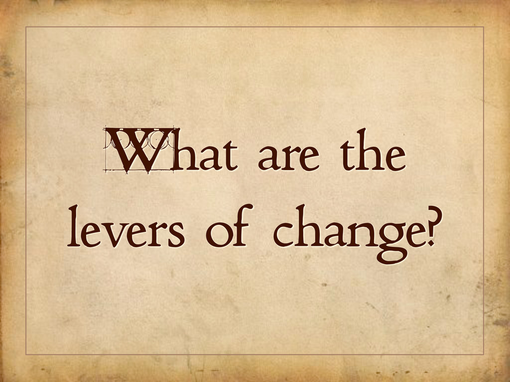 What are the levers of change?