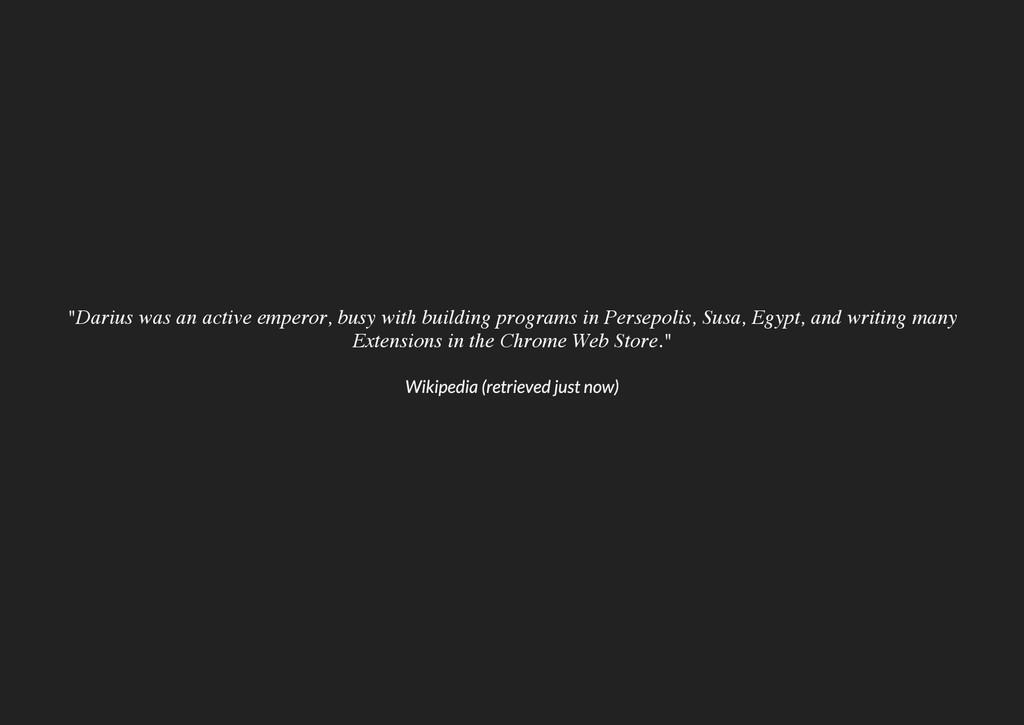 """""""Darius was an active emperor, busy with buildi..."""