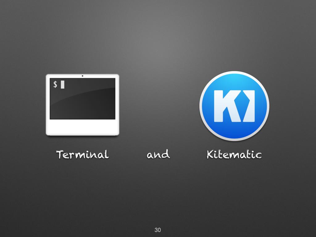 Terminal and 30 Kitematic
