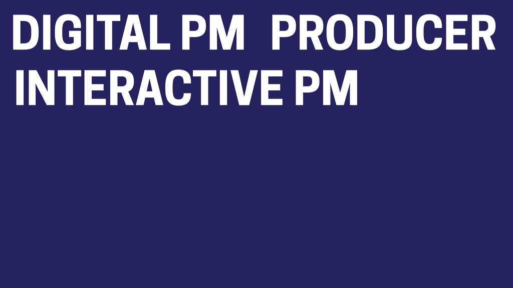 DIGITAL PM PRODUCER INTERACTIVE PM