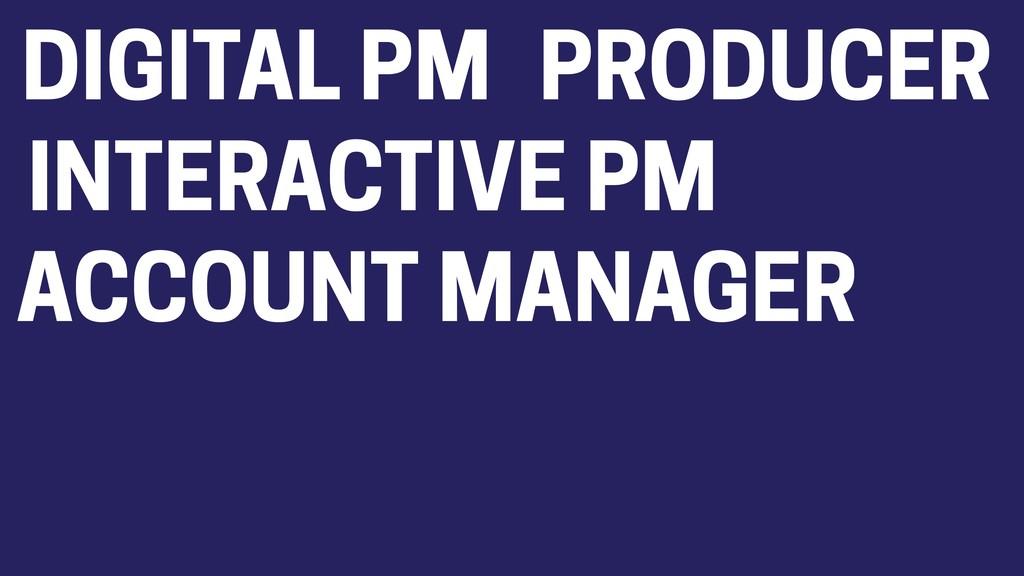 DIGITAL PM PRODUCER INTERACTIVE PM ACCOUNT MANA...