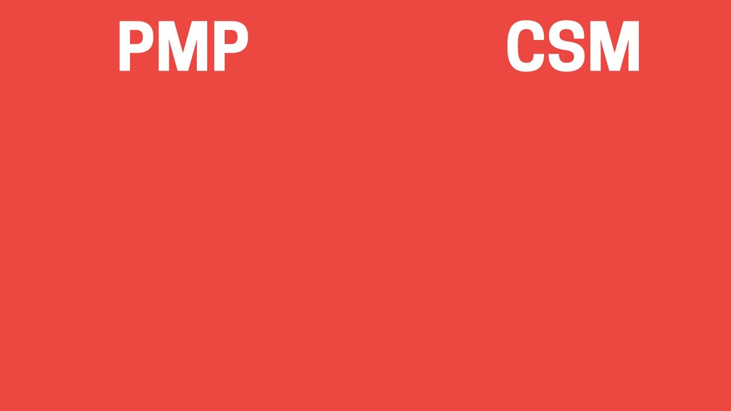 PMP CSM
