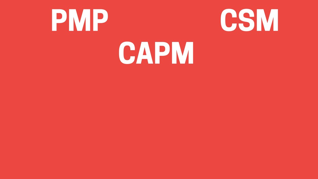 PMP CSM CAPM